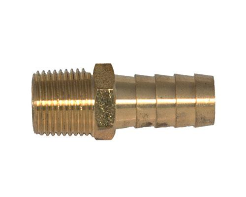 Brass Hose 1/2 Barb X 1/4 MPT Adapter