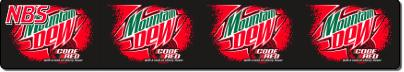 Mountain Dew Code Red Syrup Line Marker, FS01LM9613