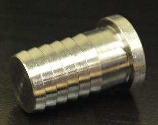 3165: 1/2 Barb Plug, Stainless Steel