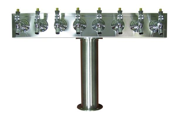 TT8CR-G : T Tower, 8 Product, Stainless Steel Finish, Glycol Ready (uses Drip Tray DT30SS)