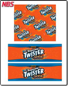 Tropicana Twister Orange Soda BIB Line Marker, CP011215