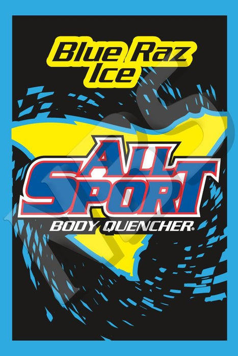 "All Sport Blue Raz Ice UF-1 Valve Decal, VI01641313A 2"" x 2 7/8"""