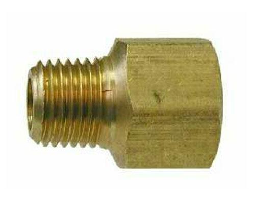Brass 1/4 FPT X 1/4 MPT Pipe Adapter, 222P-4-4, 28192