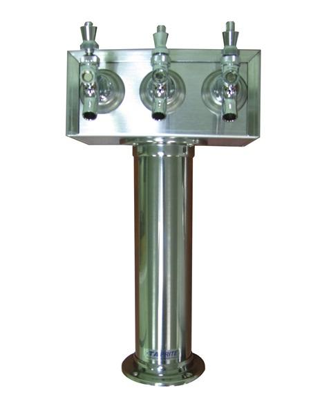 TT3SS : T Tower, 3 Product, Stainless Steel Finish, Air Cooled (uses Drip Tray DT15SS)