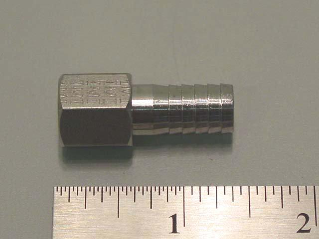 3091: 3/8 Barb x 1/4 FFL Adapter