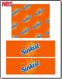 Sunkist Orange Soda BIB Line Marker, CP041102
