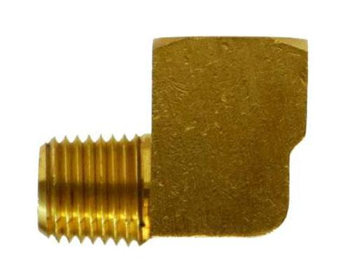 28158: Brass 3/8 FPT X 3/8 MPT Street Elbow BARSTOCK