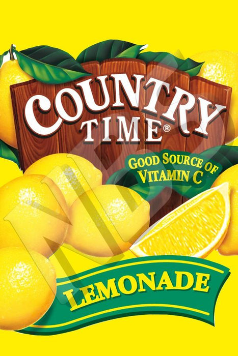 "VI04641927 Country Time Lemonade UF 1 Valve Decal  2"" x 2 7/8"""