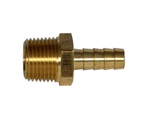 Brass Hose 3/8 Barb X 1/2 MPT Adapter | 32014
