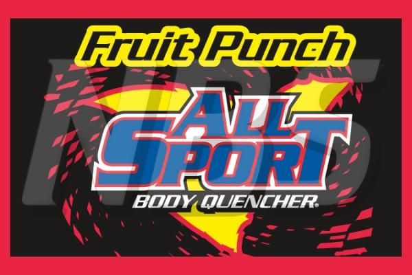 "All Sport Fruit Punch 63 UF-1 Valve Decal, VI01631272 2"" x 1 1/4"""