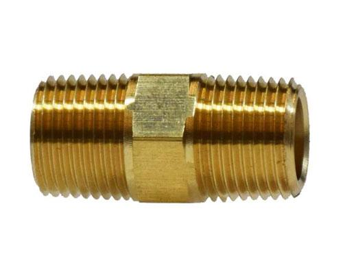 28211 : Brass 1/8 MPT Hex Pipe Nipple, E216P-2