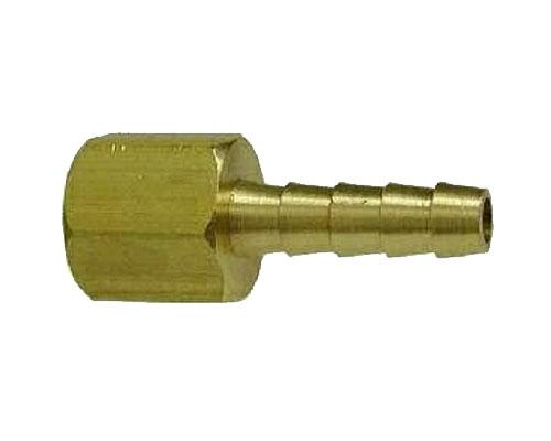 Brass 1/2 Hose Barb X 1/2 FPT Rigid Adapter