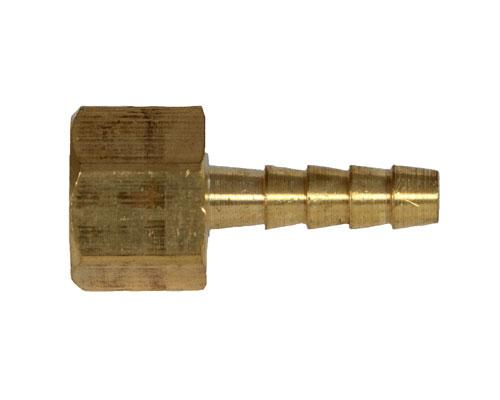 Brass 1/4 Hose Barb X 1/8 FPT Rigid Adapter