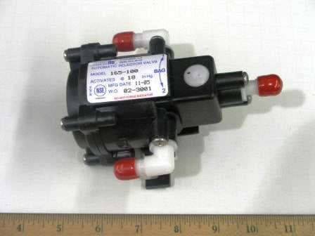 Automatic Bag Selector Valve General Beverage, 3/8 Barb Elbow, 94-350-03