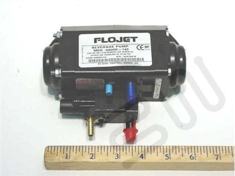 Flojet syrup pump-Liquid in- 3/8, Liquid out- 3/8, Gas in- 1/4