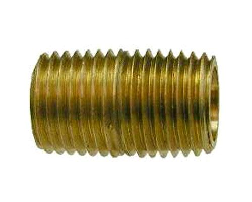 MPT Close Nipple, Brass