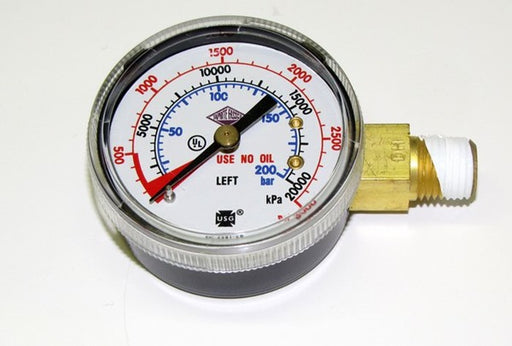 "6603: Gauge, 3000lb, 1/4"" NPT, Left Hand Threads"