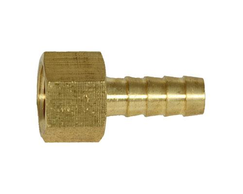 Brass 3/8 Hose Barb X 3/8 FPT Rigid Adapter