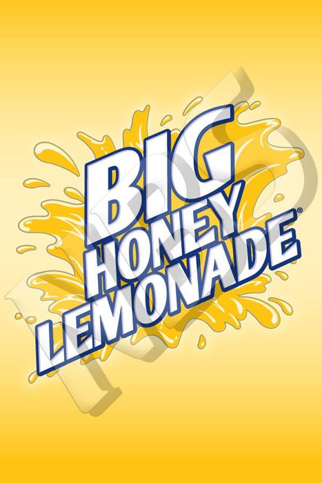"Big Honey Lemonade Valve Decal, VI11641921 2"" x 2 7/8"""