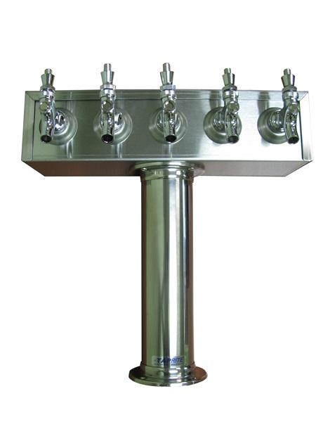 TT5SS : T Tower, 5 Product, Stainless Steel Finish, Air Cooled (uses Drip Tray DT24SS)
