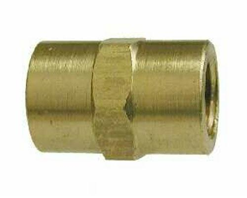 Brass 1/4 FPT Pipe Coupler, 28059L