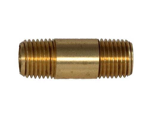 "28144 : Brass 1/4 MPT Long Nipple 1.5"" Length, E215PNL-4-15"