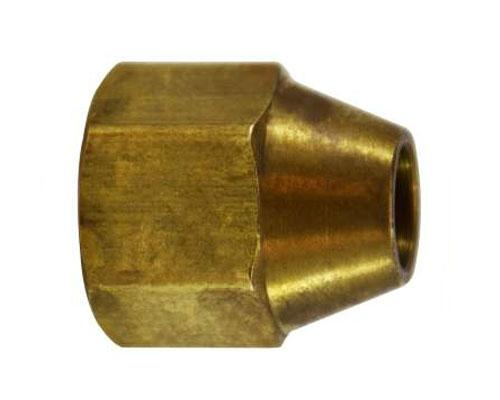 Brass 3/8 x 1/4 Reducing Flare Nut, 10023