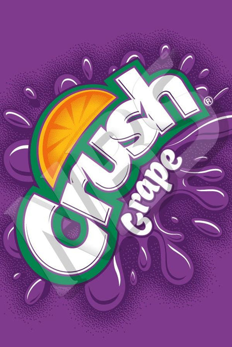 "Crush Grape UF 1 Valve Decal, VI04641931 2"" x 2 7/8"""