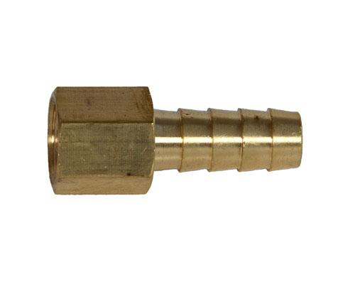 Brass 3/8 Hose Barb X 1/4 FPT Rigid Adapter