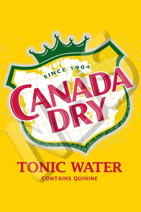 "Canada Dry Tonic Water UF-1 Valve Decal, VI04642000  2"" x 2 7/8"""