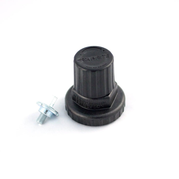 740-603: Regulator Bonnet Assembly, Polycarbonate, Black Cap, for Primary CO2 Regulators