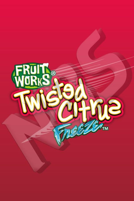 "Fruit Works Twisted Citrus Freeze UF-1 Valve Decal, VI016413032"" x 2 7/8"""