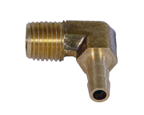 Brass 1/4 Barb X 1/4 MPT Elbow
