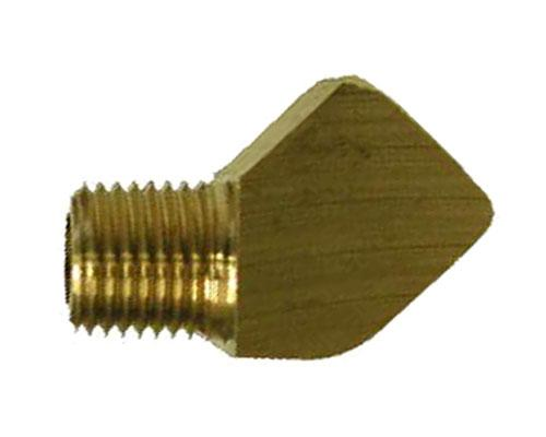 Brass 1/4 FPT X 1/4 MPT 45 Degree Street Elbow, 2214P-4-4, 28231