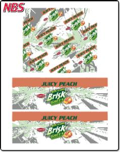 Lipton Brisk Juicy Peach Green Tea BIB Line Marker, CP011234