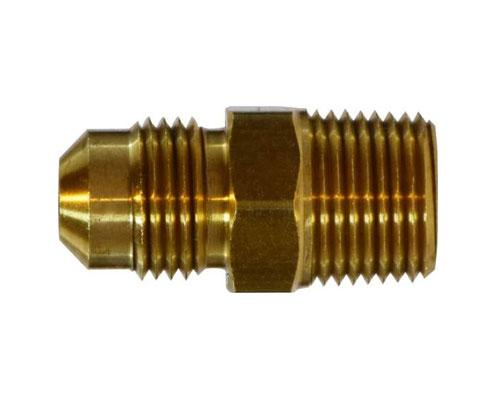 Brass 5/16 MFL X 1/4 MPT Connector