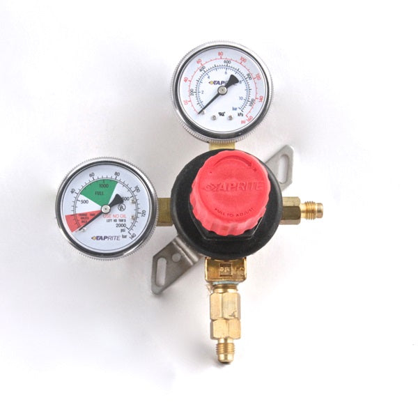 T5741WMHP  1P (Pressure) X 1P (Product), 160lb & 2000lb gauge, ¼ flare inlet, ¼ flare with check valve, red cap
