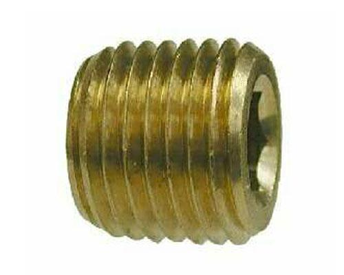 Brass 1/8 MPT Hex Socket Pipe Plug, 219P-2, 28093