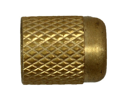 10081: 1/4 FINGER TIGHT CAP, Brass