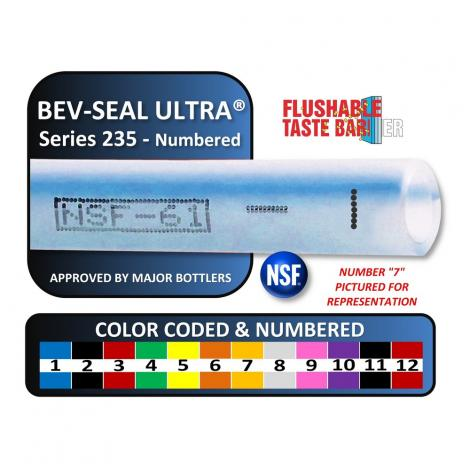 Bev-Seal Ultra Series 235 Core Tubing Numbered 1 and Blue Tracer (500' Spool)