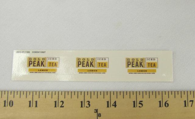Gold Peak Lemon Iced Tea Syrup Line Marker