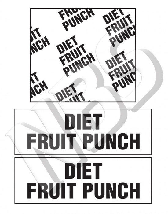 Generic Fruit Punch Diet BIB Marker