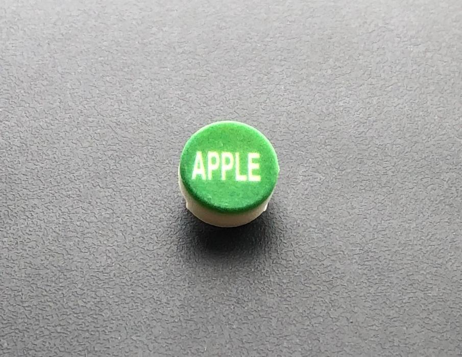 PH10-74-058: Apple Green Button Cap with White Letters