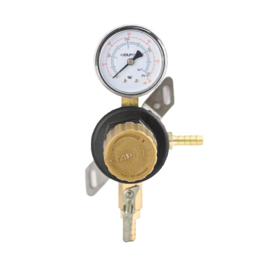 "T1661STC  - Secondary Beer Regulator, 1P1P, 5/16"" Barb Inlet, 5/16"" Barb Shut-off w/Check, 60lb Gauge"