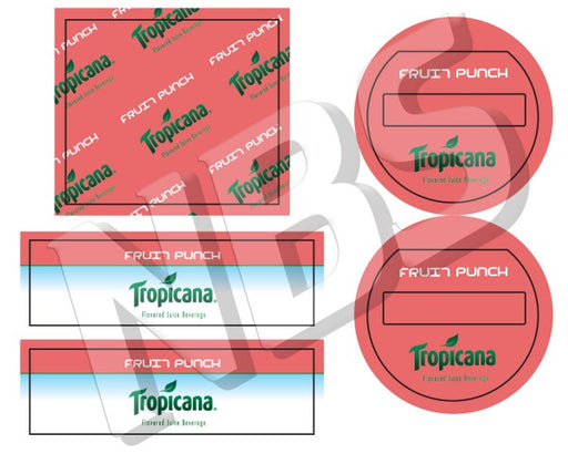 Tropicana Fruit Punch Flojet BIB Marker