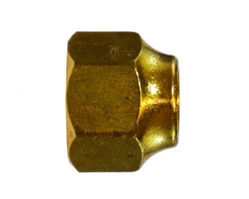 Brass 1/4 Flare Short Forged Nut, 10039