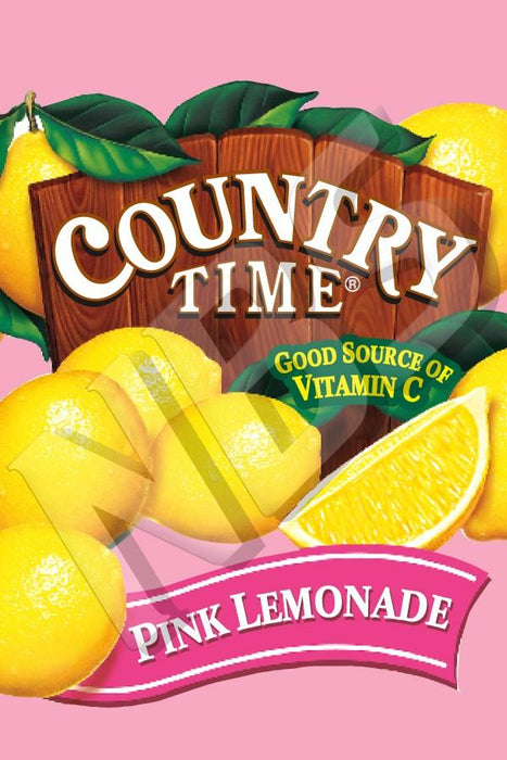 "VI04641928 Country Time Pink Lemonade UF 1 Valve Decal  2"" x 2 7/8"""