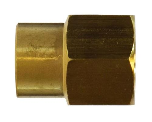 Brass 3/8 FPT X 1/4 FPT Reducing Coupler, 208P-6-4, 28183