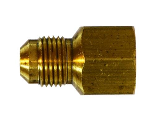 Brass 5/8 Male Flare X 3/8 Female Pipe Connector, E46F-10-6, 10243