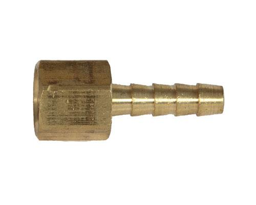 Brass 3/8 Hose Barb X 1/2 FPT Rigid Adapter